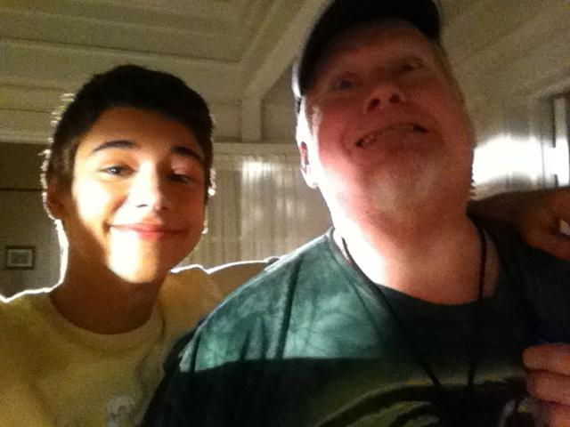 Lighting technician Rusty Pouch with Uriah Shelton