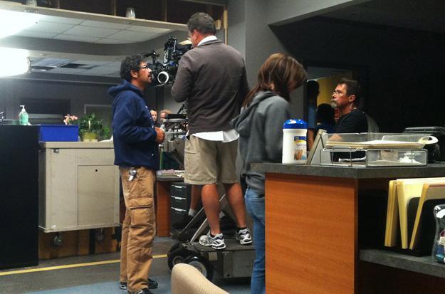 Uriah Shelton behind scenes at Atlanta General Hospital