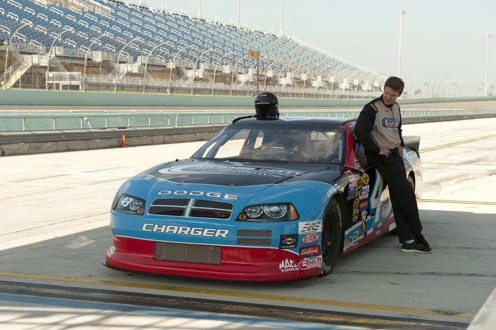 Longworth gets ready for racecar ride