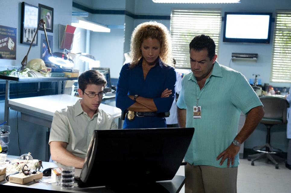 Team watches surveillance tape