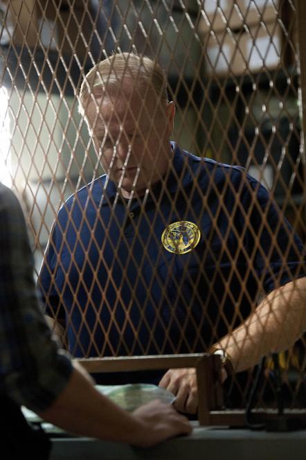 Ed Vickers runs evidence room