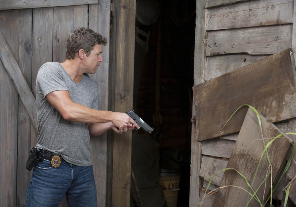 Jim follows blood trail to cabin