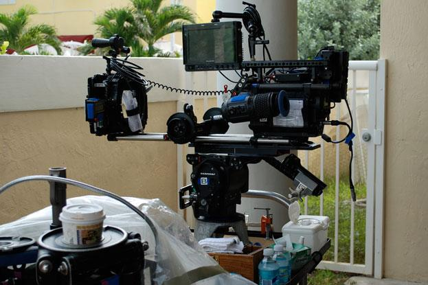 High-tech ld Red camera on set