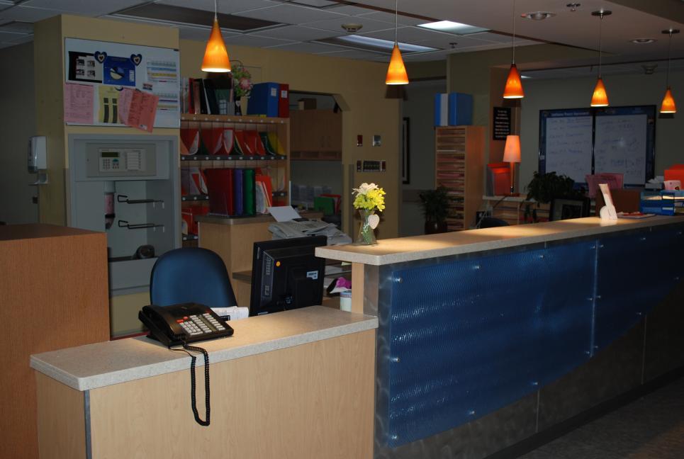 Callie's desk at Palm Glade Hospital