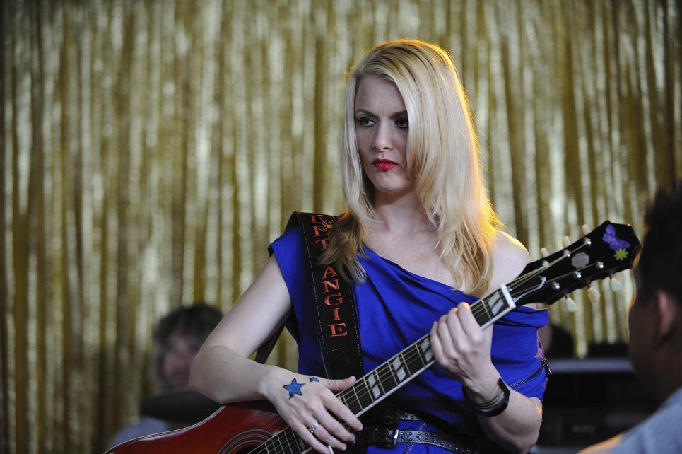 Rocker Angie Sweet glares at Longworth