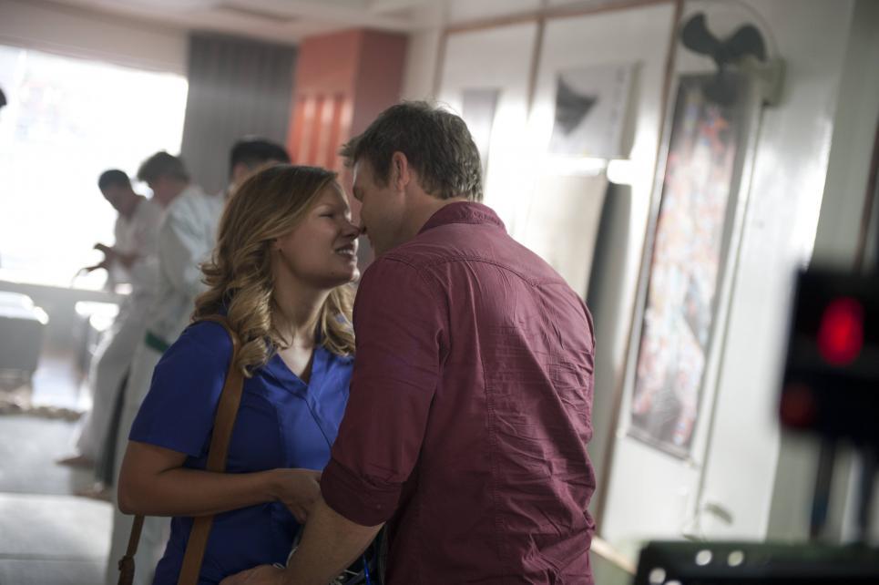 Jim and Callie sneak a kiss
