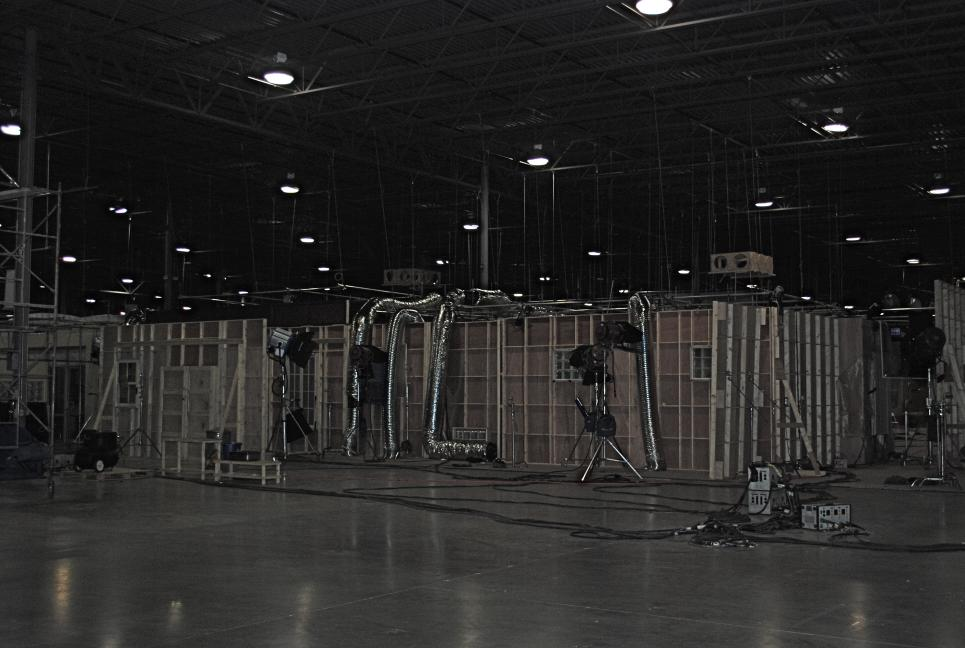 Sets at production warehouse