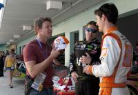 Longworth asks NASCAR driver for autograph