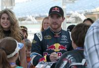Brian Vickers signs autographs
