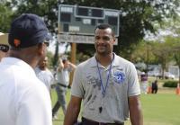 Coach Ward takes break to talk