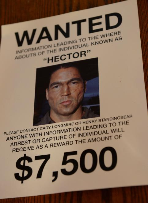 Hector's wanted poster