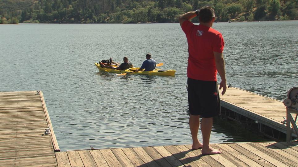 Steve tests kayak