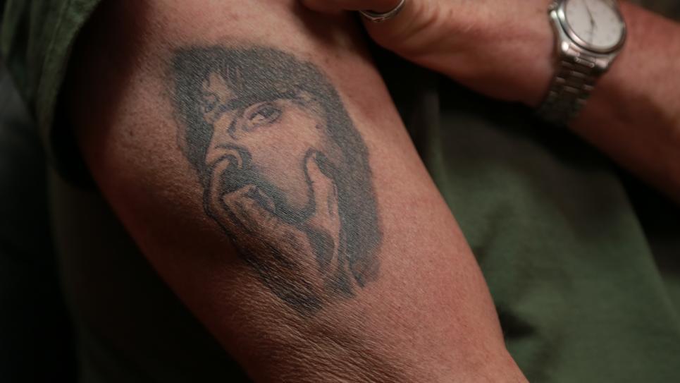 Tim's Tattoo Before