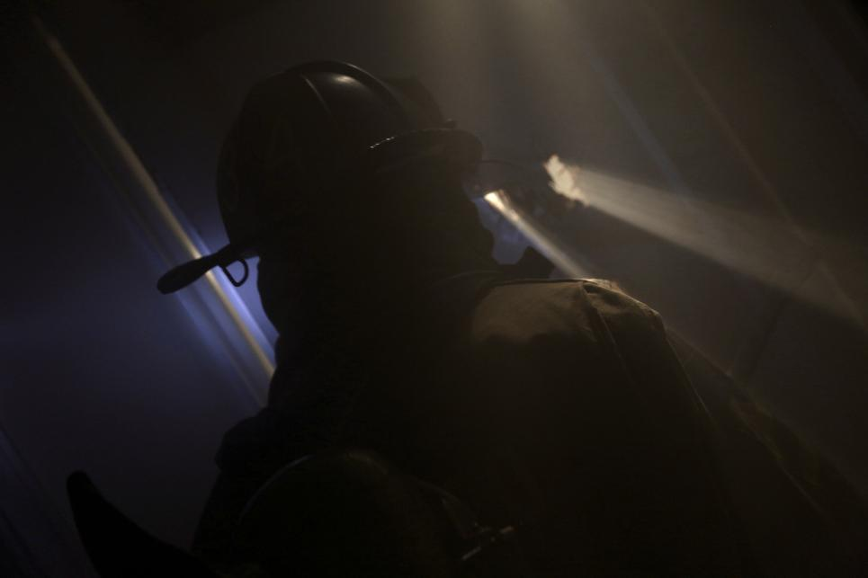Firefighters Arrive