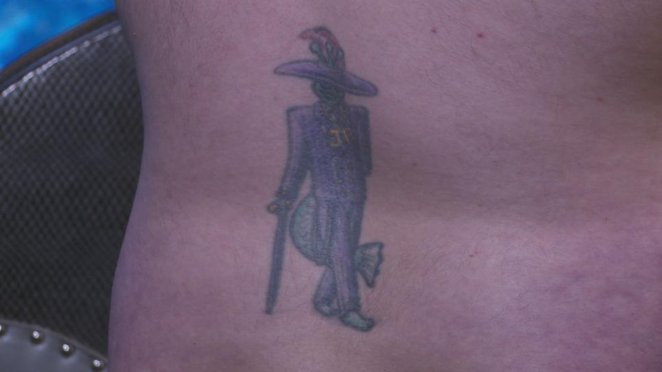 Jeremy's Tattoo Before