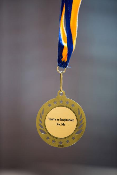 Jim's medal