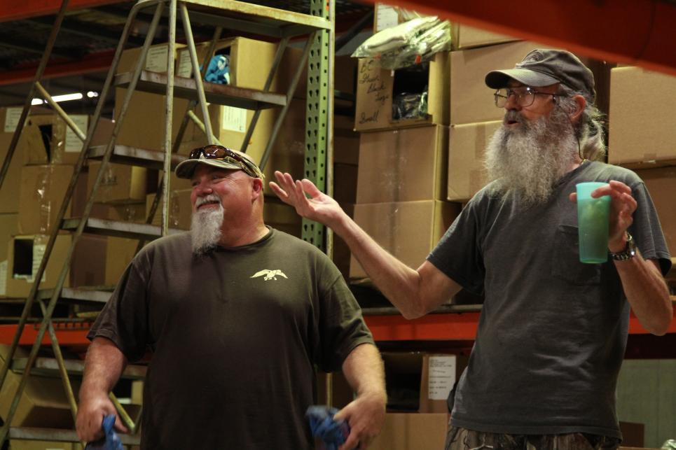 Godwin and Si in Warehouse