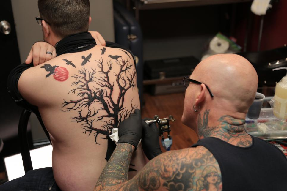 Jeremy's Tattoo Starts to Come Together