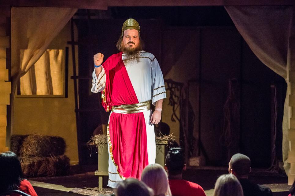 Martin Performs as Caesar