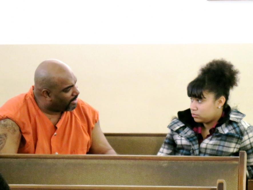 Inmate Graziano gives Makayla advice.