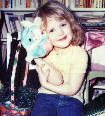Heather With Toy Bunnies