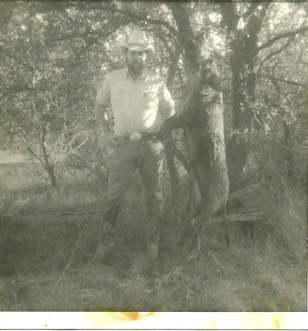 Old Photo of Jerry With a Hog He Caught