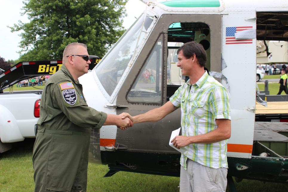 Jarrett Meets Helicopter Inspector