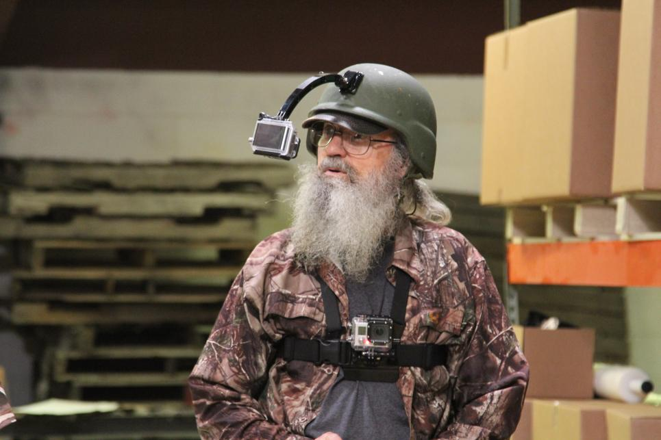 Si With Minicam Mounted To Helmet