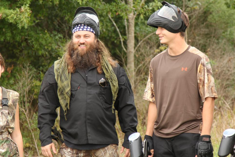 Willie and Reed at Paintball Game