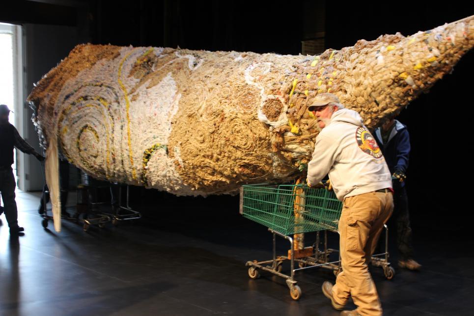 Marc Delivers Plastic Bag Whale