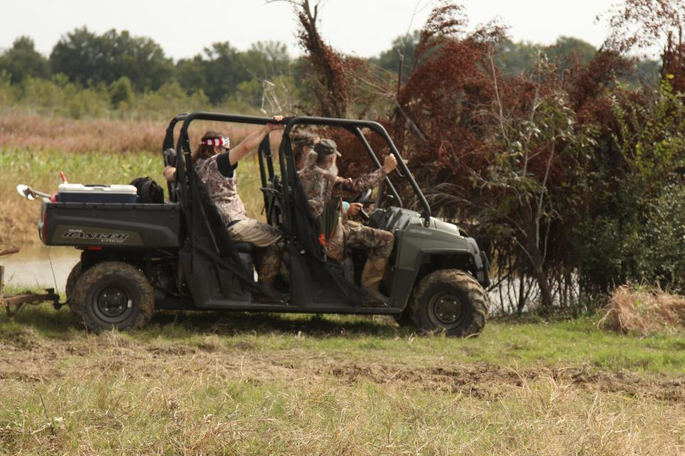 Willie, Phil, and Si Head Home After Working on the Duck Blinds