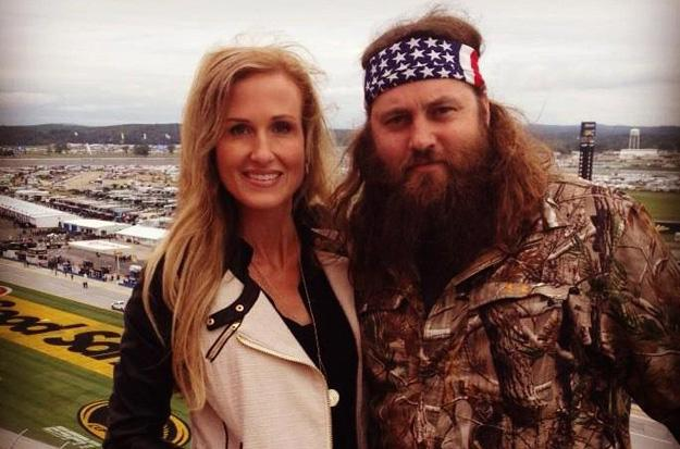 Korie and Willie hang out at Talladega