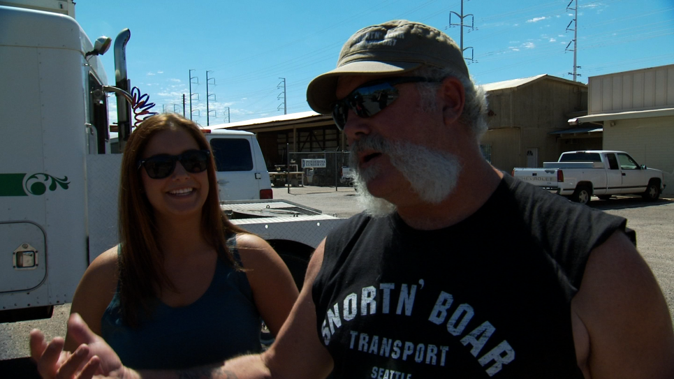 Marc and Daughter Casey Pick Up Vintage Trucks