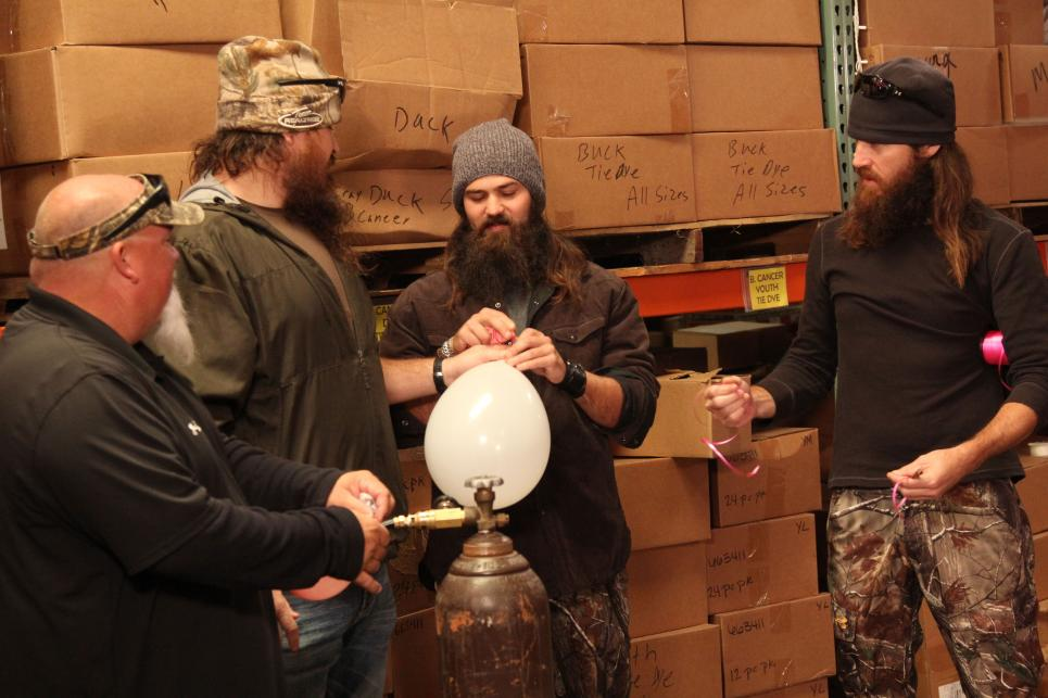 Duck Commander Crew Sucks Helium from Balloons