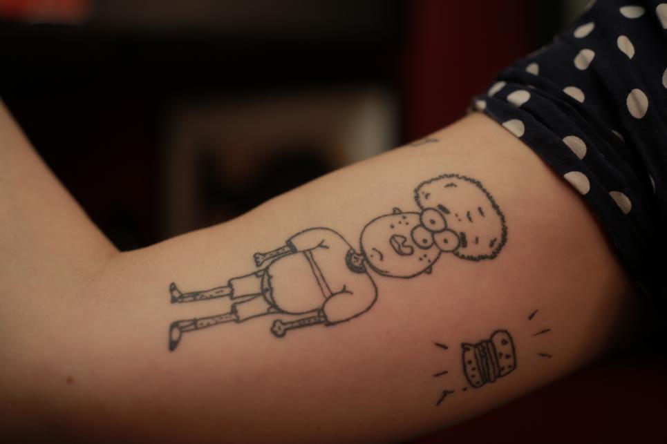 Emily's Tattoo Before