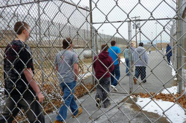 Lifers lead teens into prison yard