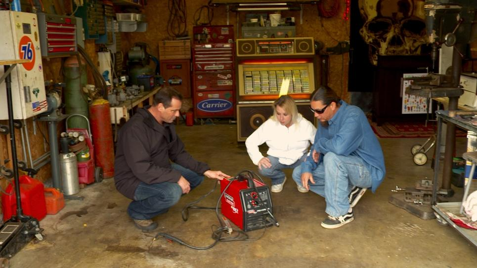Antonio starts trade string with electric welder