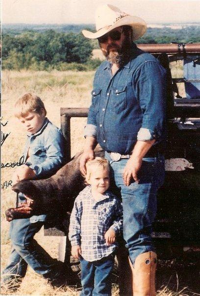 Old Photo of Jerry with Young Krystal and Robert