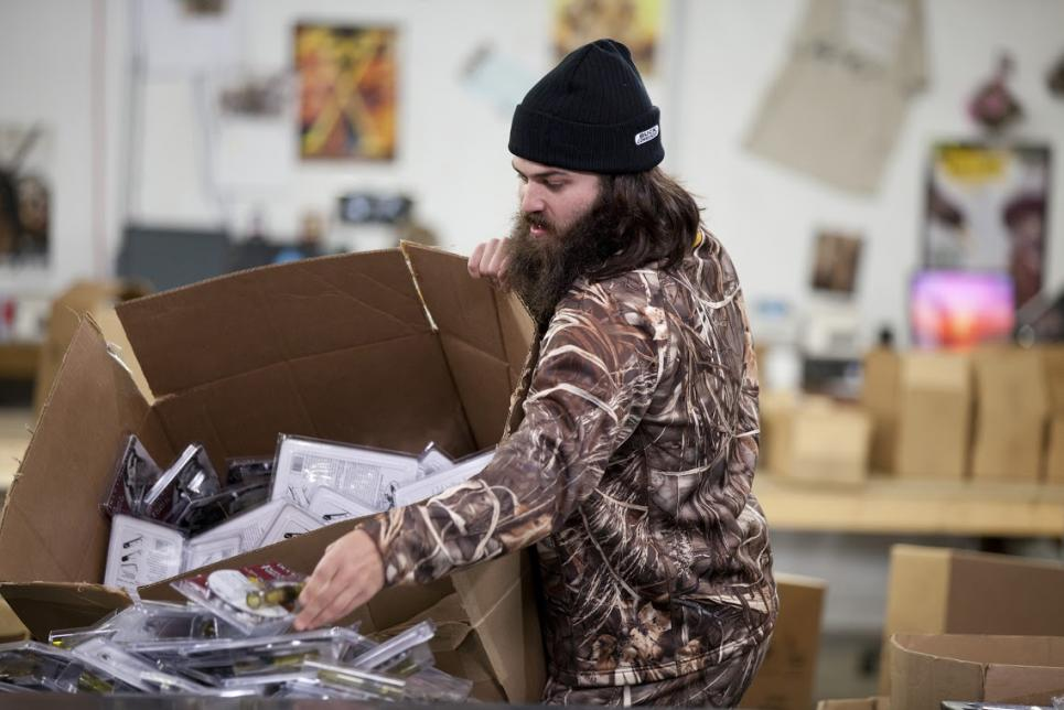 Jep Robertson Working at the Warehouse
