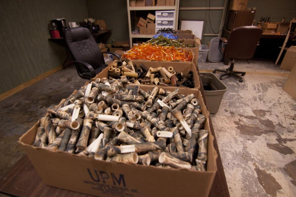 Boxes of Duck Calls