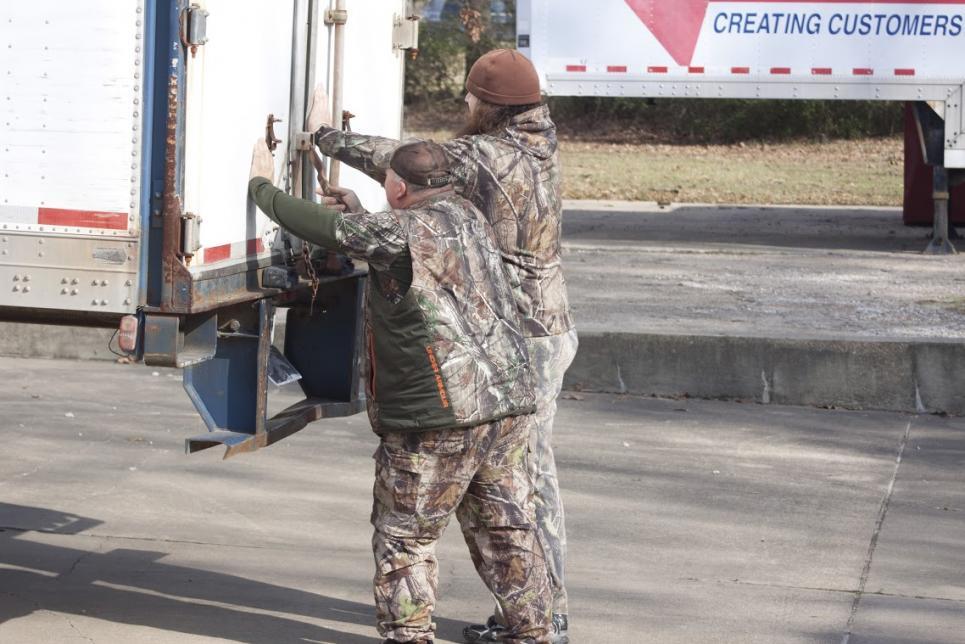 Martin and Godwin Close Up Truck