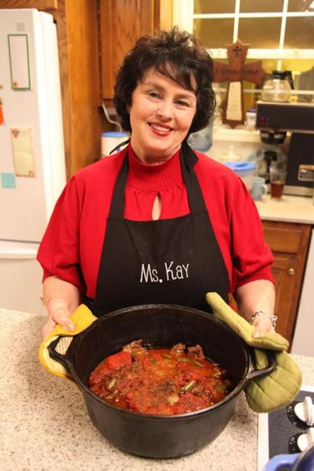Kay Shows Off Her Swiss Steak