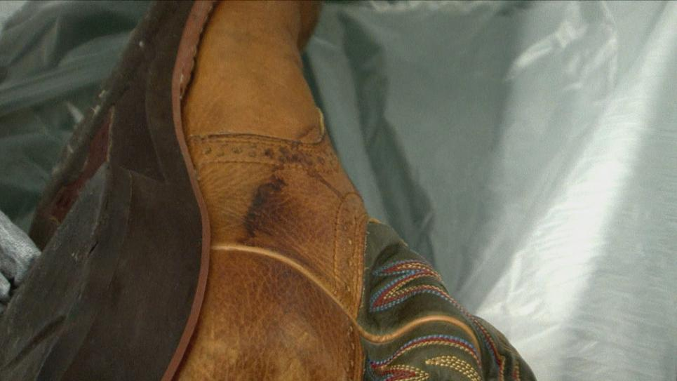Blood on Suspect's Boot