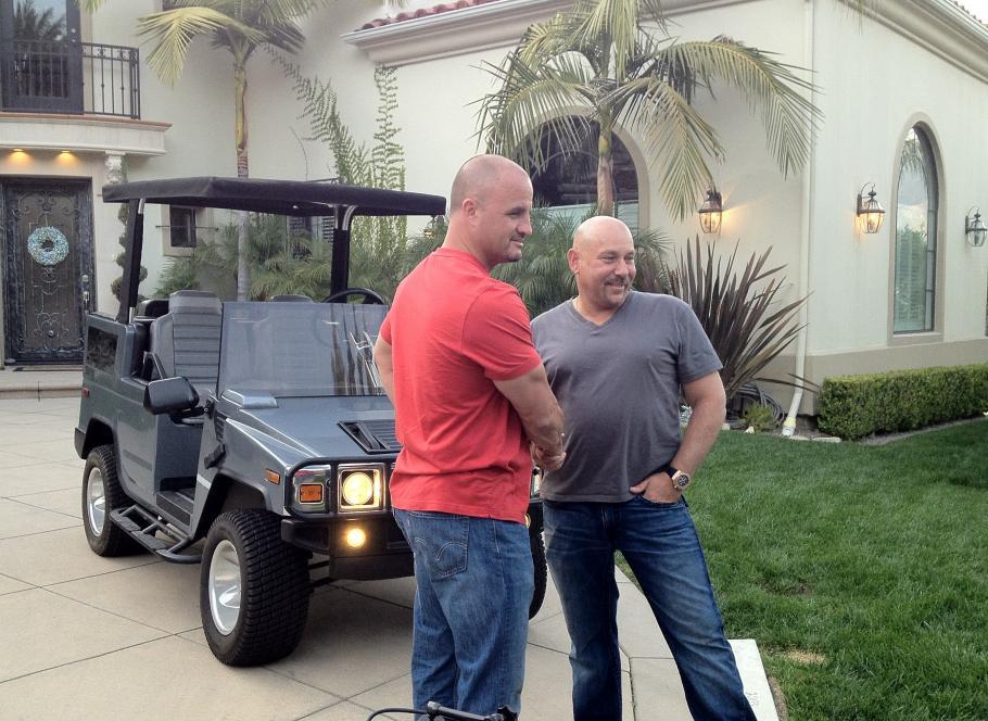 Steve trades balloon for golf cart