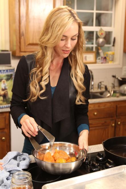 Jessica Robertson makes sweet potato pies