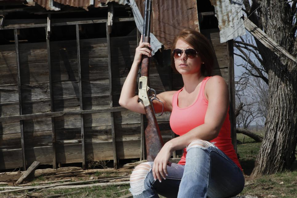 Katie Ball With a Rifle