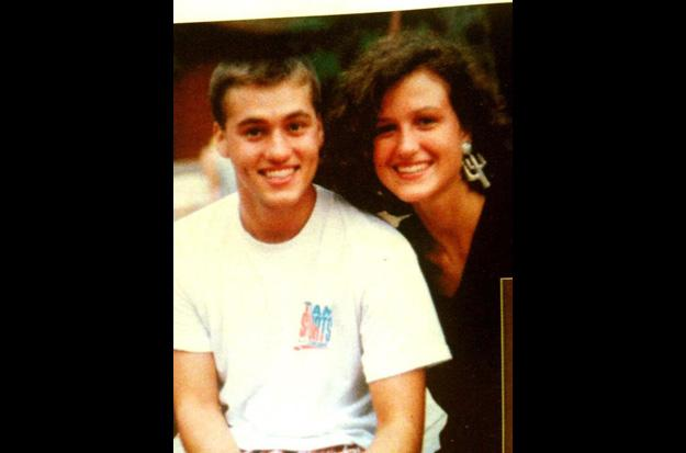 Willie and Korie Robertson as teens