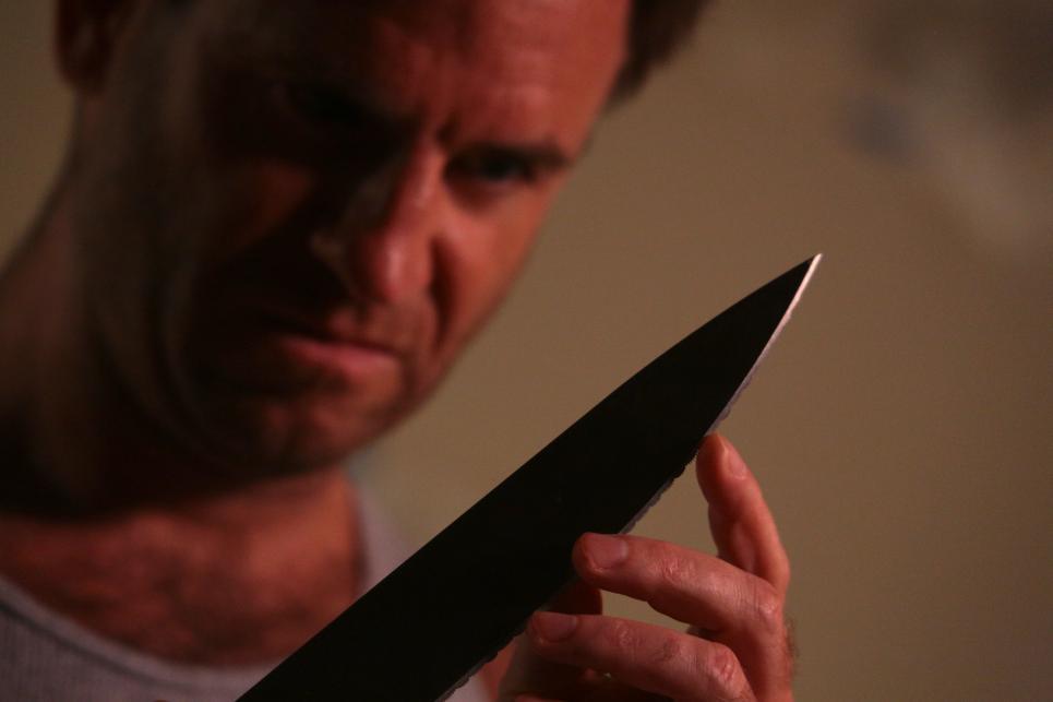 Scott Wields a Knife
