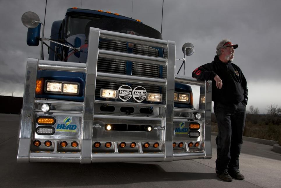 Marc uses 18-wheeler tractor trailer