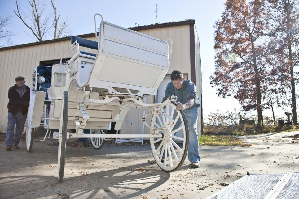 Jarrett moves carriage